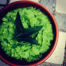 Mushy Peas with mint