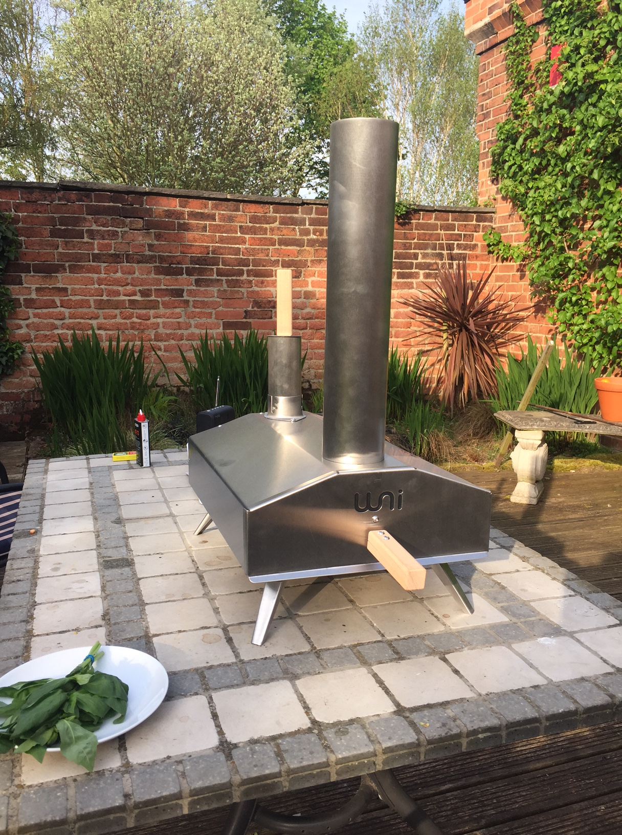 backyard pizza oven garden design with outdoor fireplace with