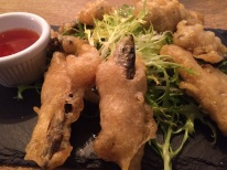 Deep fried, battered whitebait