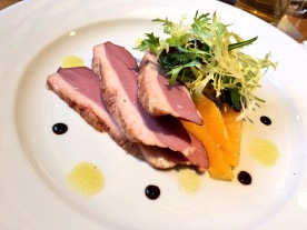 Smoked duck with orange