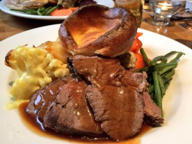 Roast Beef with Yorkshire and no red cabbage